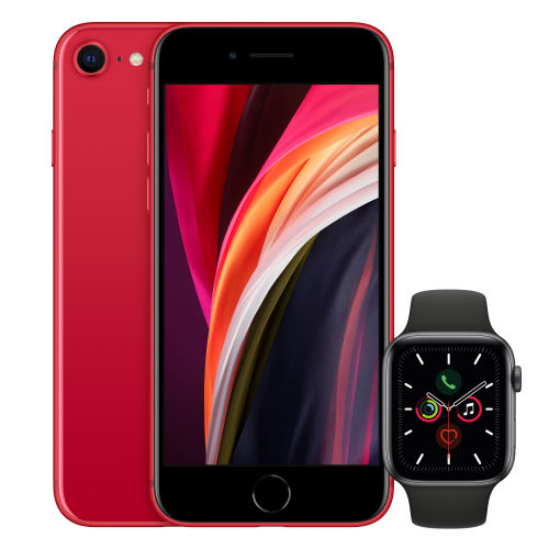 iPhone RED Apple Watch Images