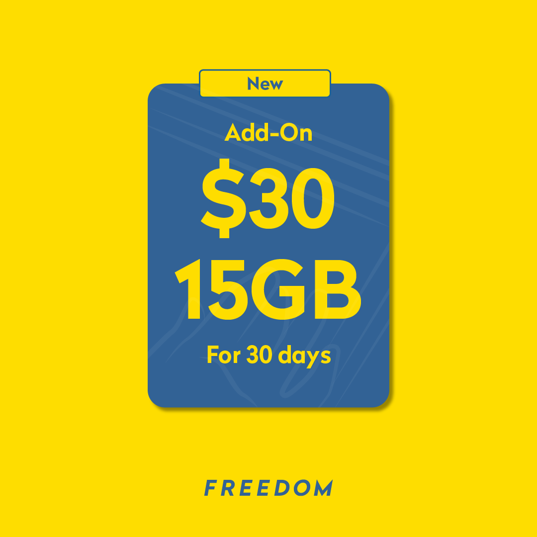 Freedom Add On 30 15GB