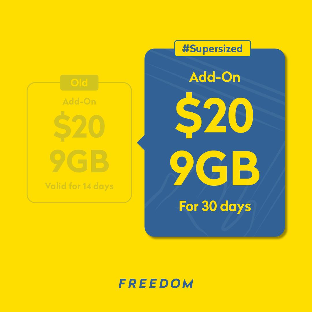 Freedom Add On 20 9GB