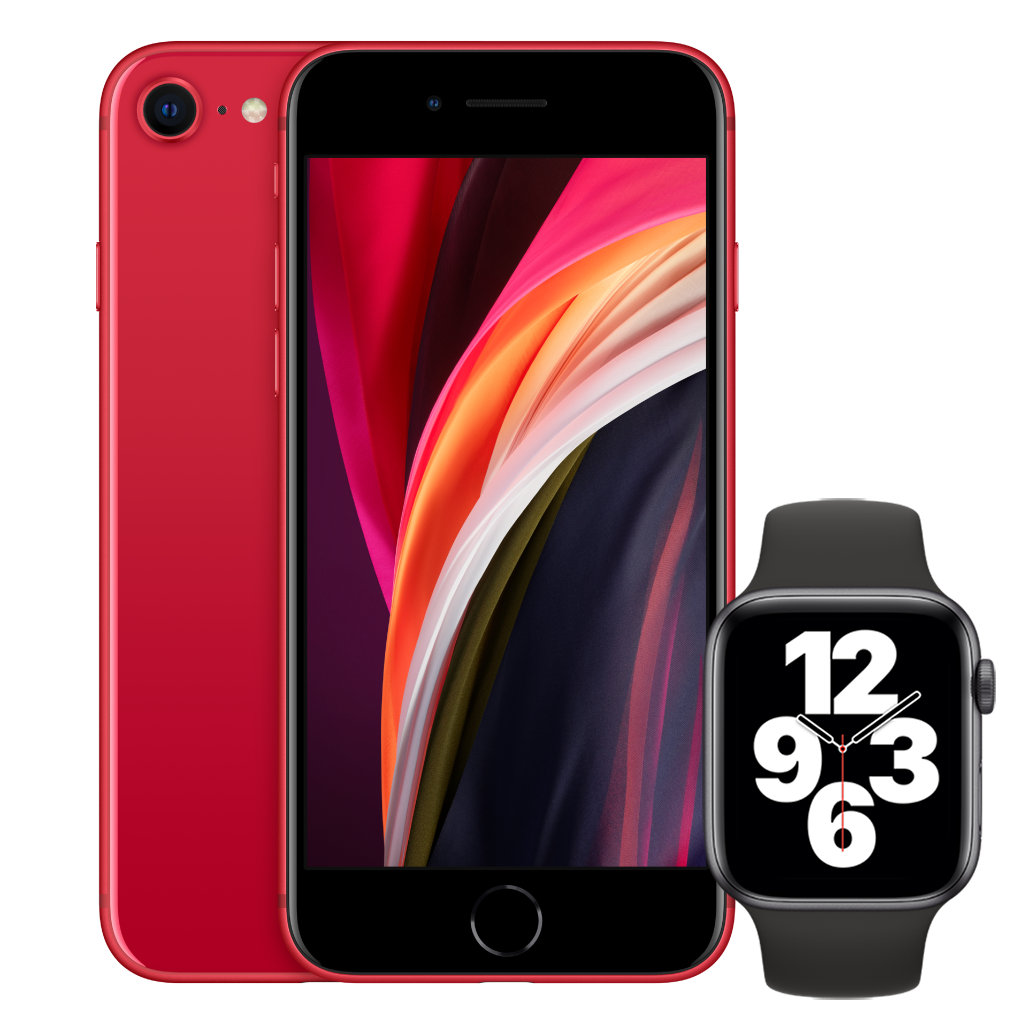 iPhone SE Red Apple Watch SE Bundle