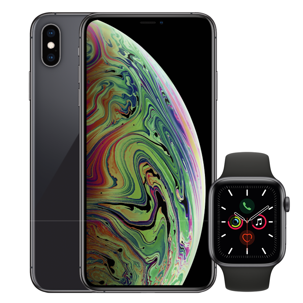 iPhone XS Max Black Apple Watch