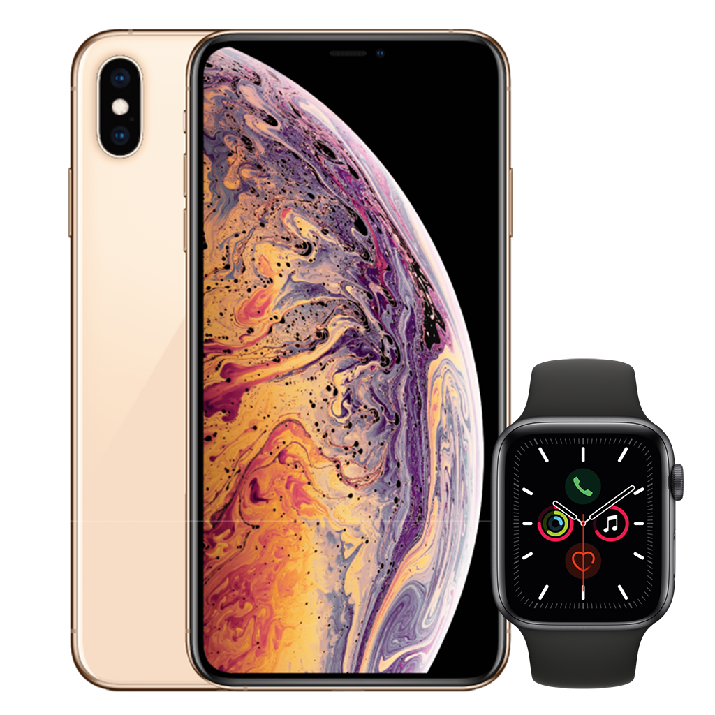 iPhone XS Max Rose Pink Apple Watch