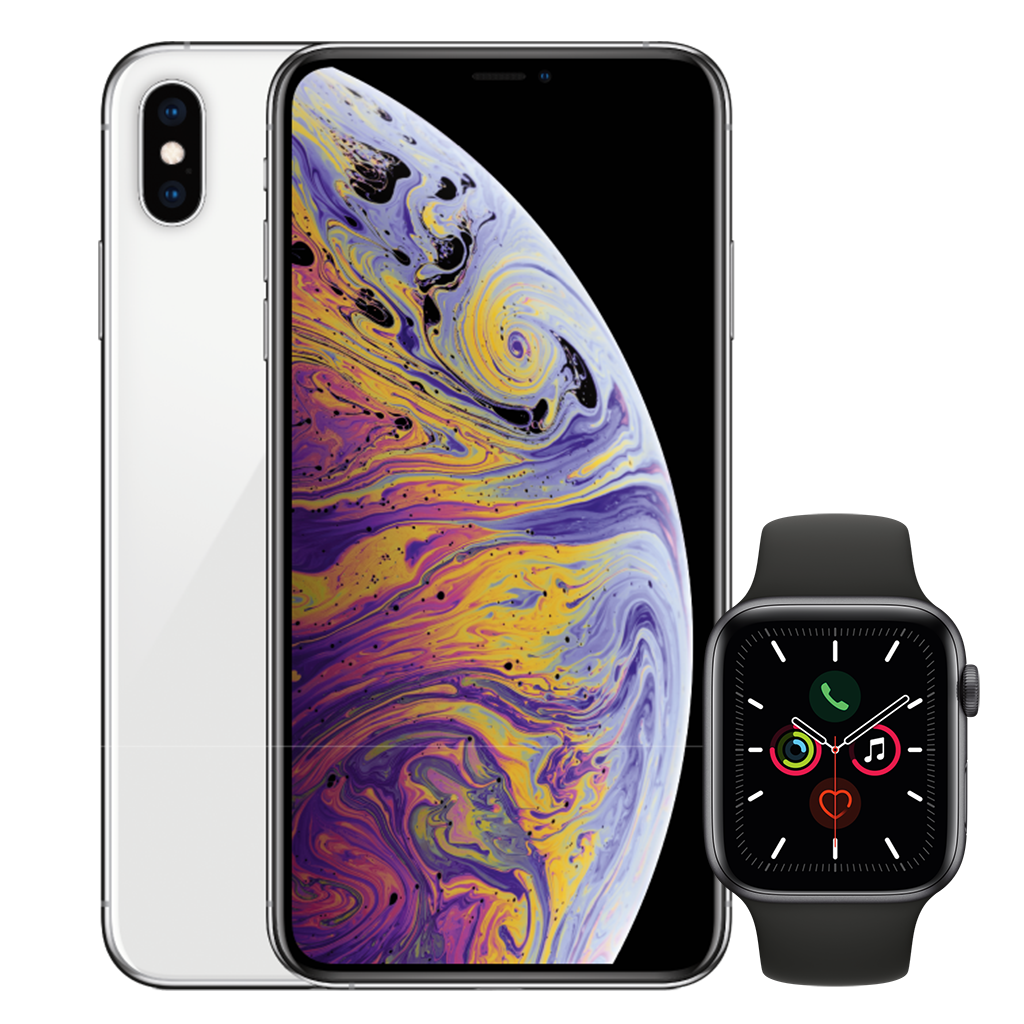 iPhone XS Max White Apple Watch